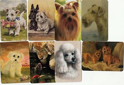 8 Swap Playing Cards Dogs Terriers Poodles Golden Retriever Silkies