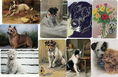 9 Swap Playing Cards Dogs Terriers  Jack Russell Labrador Puppies