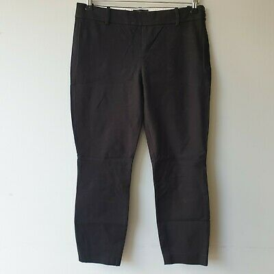 J Crew Women Size 10 Black Minnie Ankle Trousers Smart Career Office Work Casual