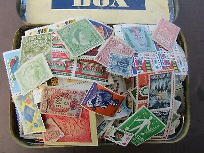 Old Box Of Vintage Revenues Charity Stamps/Labels/Tb Issues Cinderellas Etc