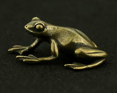 Exquisite Chinese Pure Brass Handwork frog Amulet antique statues /Vb01