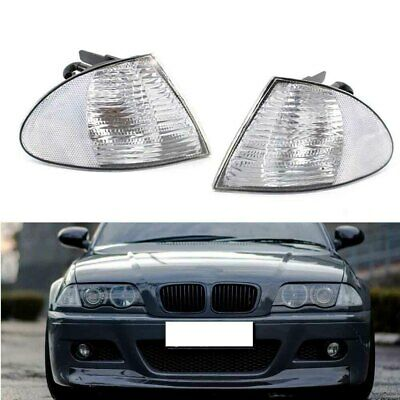 2X Signal Indicator Corner Light Shell Housing Clear for BMW 3Series 4Door 99-01