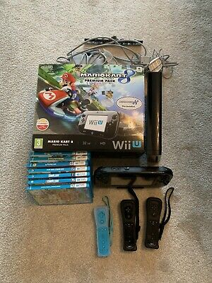 Nintendo Wii U Black Premium Pack With Mario Kart 8 And 7 Extra Games