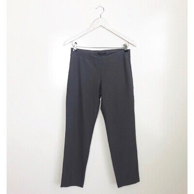 EILEEN FISHER Petite Small Stretchy Crepe Knit Pants! Womens Crop Gray PS