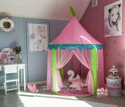 Tiny Land Princess Castle Play Tent for Girls - Pink
