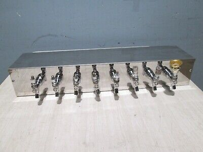 Commercial Heavy Duty  Bank Of 8 Heads Draft Beer Tapper Dispenser For Tower