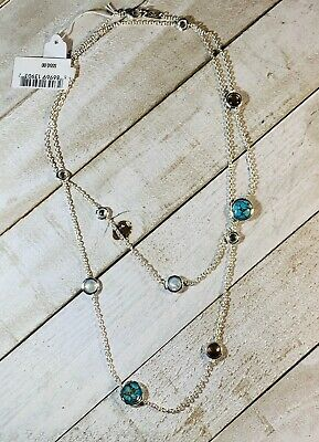 Ippolita Rock Candy Lollipop Multi-Stone Sterling Silver Station Necklace NWT