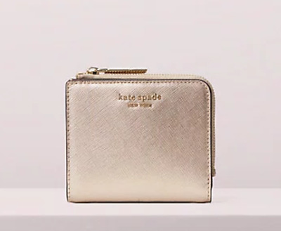 NWT Kate Spade Spencer Small Bifold Wallet Rose Gold