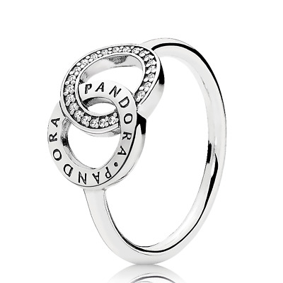 Ring Silver 196326CZ Entwined Circles  Logo S925 ALE GRÖßE 58