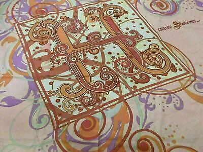 Authentic HERMES Scarf 100% Silk comme Histoires... Pink Multi Color Good 80668