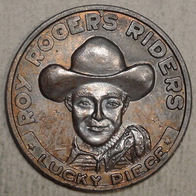 Good Luck Token, Roy Rogers Riders Lucky Piece, 1950's   L051