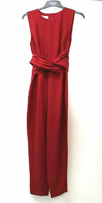 HOBBS Ladies Red Sleeveless Ruched Waist Tie Twitchill Jumpsuit UK10 NEW