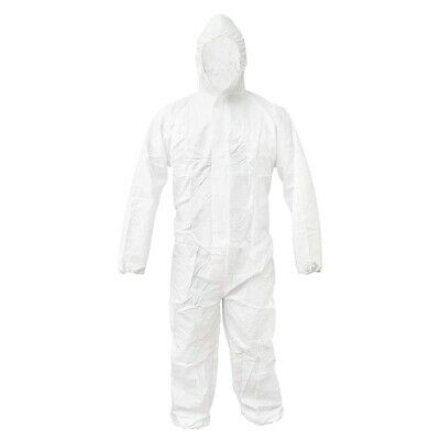 Disposable Protective Clothing with Hooded White Coveralls Anti-Fog CoverallJ2H7