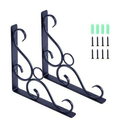Antique Style Cast Iron Brackets Garden Braces Rustic Shelf Rack Holder 1 Pair