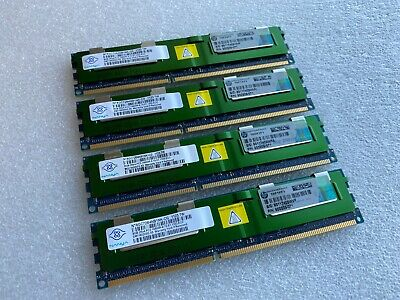 4 x HP 500205-071 8GB PC3-10600 DDR3-1333 Memory Nanya NT8GC72B4NB1NK-CG 32GB