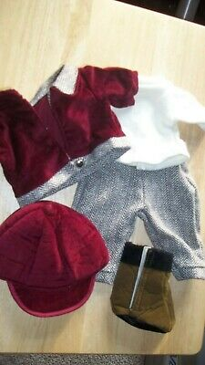"""18/"""" Doll HORSE RIDING Equestrian Show Derby Clothes Outfit for American Girl Boy"""
