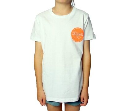 Trigger Bros East Coast Tee Kids in White Orange