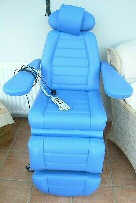 Dialysis Chair Fully Electric Large Arms Moves Up and Down Reclines Good Condito