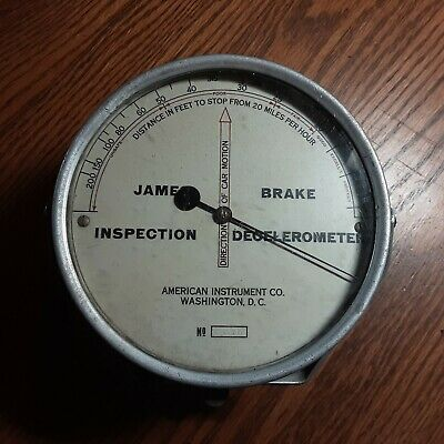 Vintage James Brake Decelerometer.......No 546