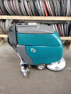 "Tennant T3 20"" walk behind floor scrubber with LOW hours"