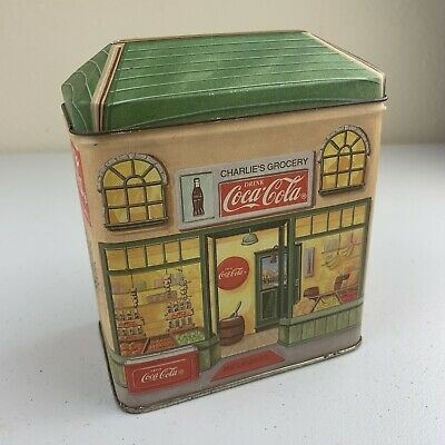 Coca Cola Vintage 1994 Charlie's Grocery Store Collectible Tin Box