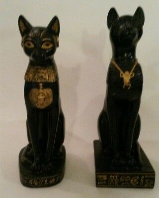 Studio Collection by Veronese Design Egyptian Cat Goddess Bastet Statue Pair