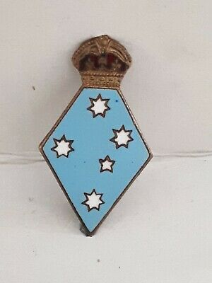 Vintage Girl Guides Enamel Southern Cross Badge.