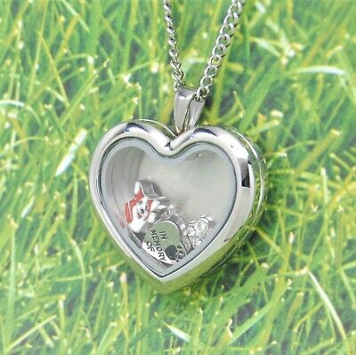 Welsh Corgi Heart Memory Locket Necklace, Pet Keepsake Jewelry, Corgi Memorial