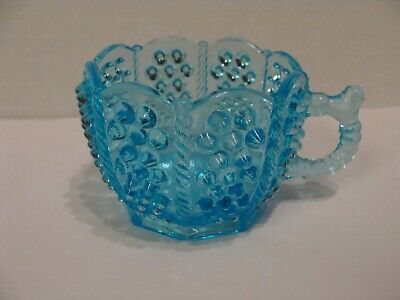 EAPG   Bryce Brothers Glass Co's Blue Panelled Hobnail Cup