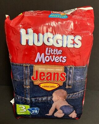 Huggies Little Movers Jeans Limited Edition Diapers Size 3 29 Diapers 2009
