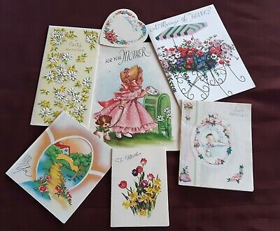 Collectable Vintage 1950,s Greeting Cards Birthday Baby Mothers Day Invitation