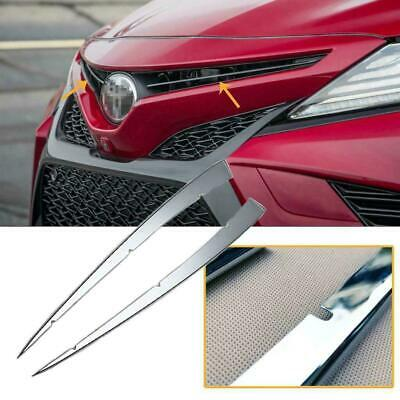 For Toyota Camry 2018-2020 Stainless Steel Front Grille Grill Bumper Trim Cover