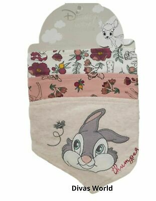 Disney Thumper Baby Bibs Bandana Pack Of 3 Official Brand New Gift Set Primark