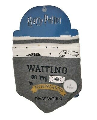 Harry Potter Baby Bibs Bandana Feeding Hogwarts Hedwig Boys Girls 3 Pack Primark