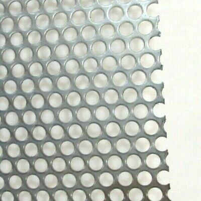 """-1/4"""" Hole 16 Ga.--(.0598)- 304  S.s. Perforated Sheet-- 8"""" X 8"""""""