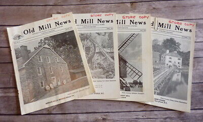 Vintage Old Mill News Publication Magazines Set of 4 Volume 1 No. 2 Thru 5 1973