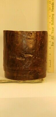 Chinese Brush Pot Simply Carved with Natural Wood