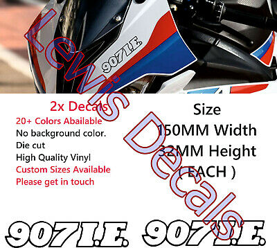 """5.9""""w White Ducati Performance Vinyl Decals Or choose your color"""
