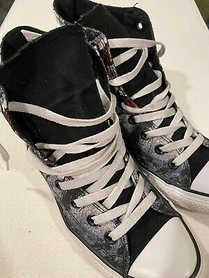 Converse All Star Chuck Taylor British Union Jack Flag Shoes Women's Size 8 GUC