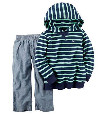 Super 3M Carters Boys Navy French Terry Pow Hoodie