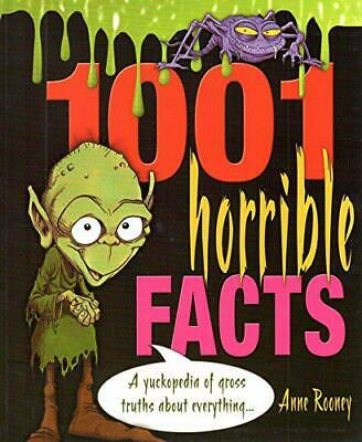 1001 Horrible Facts by Anne Rooney, Good Used Book (Paperback) FREE & FAST Deliv