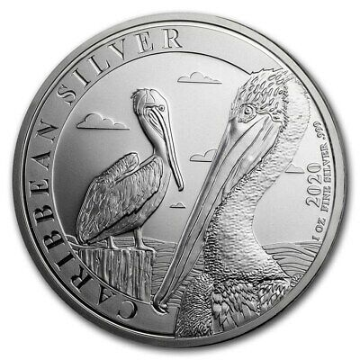 BARBADE 1 Dollar Argent 1 Once Pelican 2020