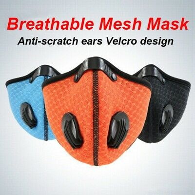 Reusable Outdoor Cycling Air Purifying Mesh Face Mask Face Haze Fog Mouth Mask