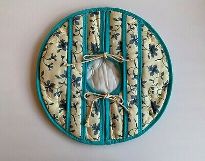 """Quilted Round Fabric Casserole Pie Dish Carrier  14"""" Dia.  NEW ~ Buy it Now"""