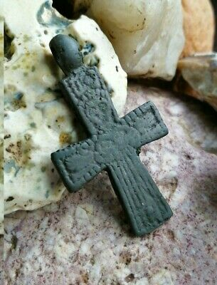 Ancient viking artifact cross 9-13 century A.D