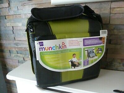 new (old stock) MUNCHKIN STYLISH BAG and BABY SEAT - TRAVEL BOOSTER.