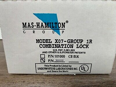 MAS-HAMILTON X07 Combination Lock 101012
