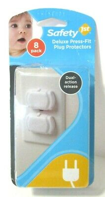 Deluxe Press Fit Outlet Plugs, 8 Count, New, FREE SHIPPING
