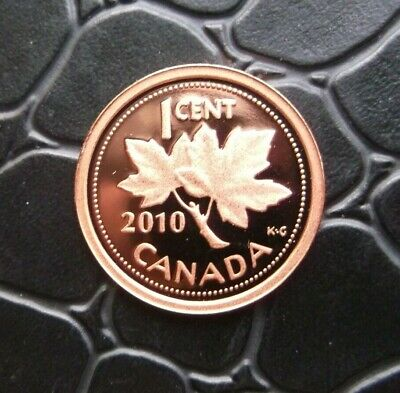 """2010 Canada 1 Cent Proof """"Non Magnetic"""" Penny-Ultra Heavy Cameo"""
