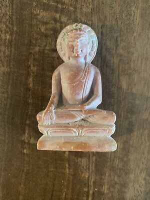 Old Phra Kring Buddhist Temple Sandstone Amulet Thailand Monk Rare Lucky Magic